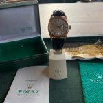 Rolex Datejust rose gold sehr selten B+P